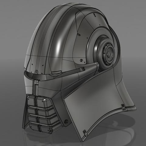 Захват-1.png Download STL file  Starkiller Helmet • Model to 3D print, 3dpicasso