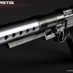 3D printer files A180 blaster pistol Jyn Erso, 3dpicasso