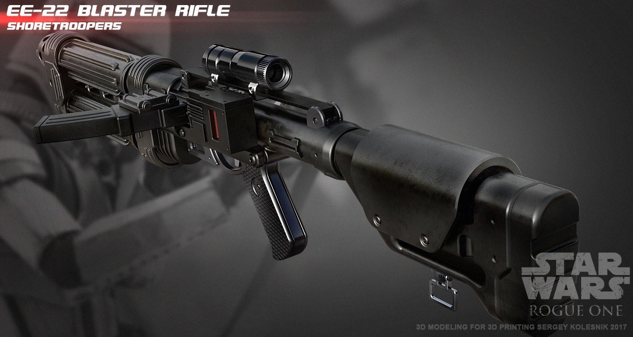 r3.jpg Download STL file E-22 Blaster Rifle  • 3D print design, 3dpicasso