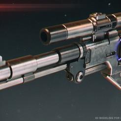 Download STL files de-10 blaster pistol, 3dpicasso