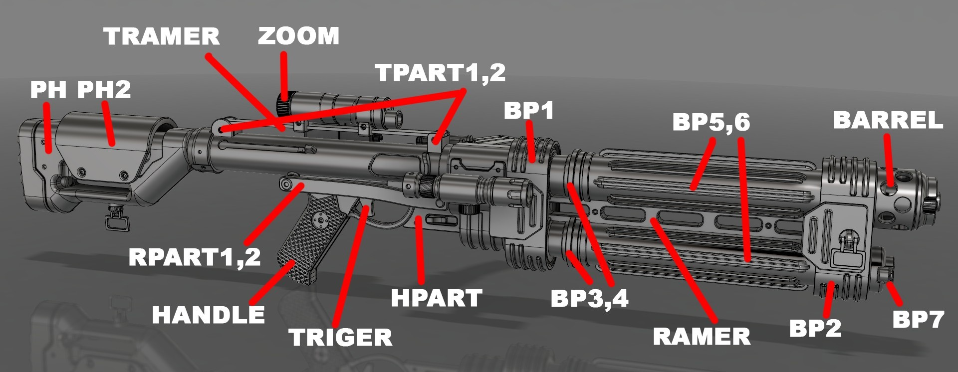 shm.jpg Download STL file E-22 Blaster Rifle  • 3D print design, 3dpicasso