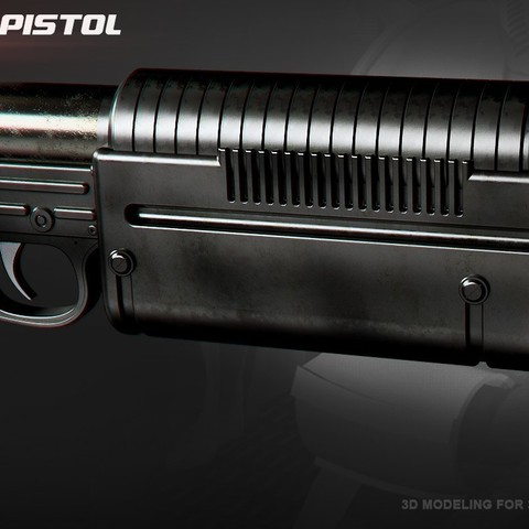 Download STL file K-16 Bryar pistol • 3D printer design, 3dpicasso