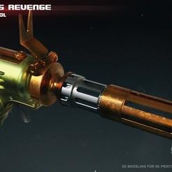 3d printer model Vilmarhs Revenge blaster pistol, 3dpicasso