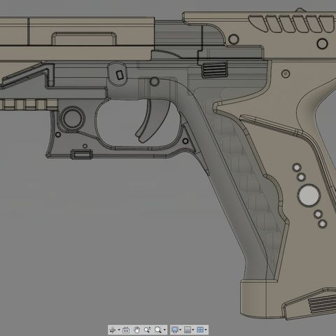 Download Stl File Ghost In The Shell Major Termoptic Pistol 3d Print Model Template To 3d Print Cults
