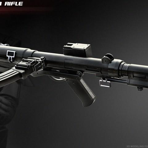 Download STL file The E-11D blaster rifle • Model to 3D print, 3dpicasso