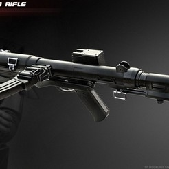 STL files The E-11D blaster rifle, 3dpicasso