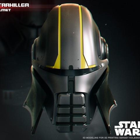 1.jpg Download STL file  Starkiller Helmet • Model to 3D print, 3dpicasso