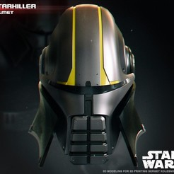 3D printer files  Starkiller Helmet, 3dpicasso