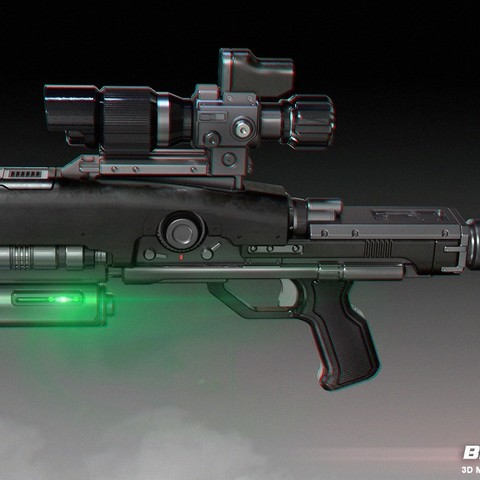 Download STL file BR8-A1 Wolverine Blaster Rifle • Design to 3D print, 3dpicasso