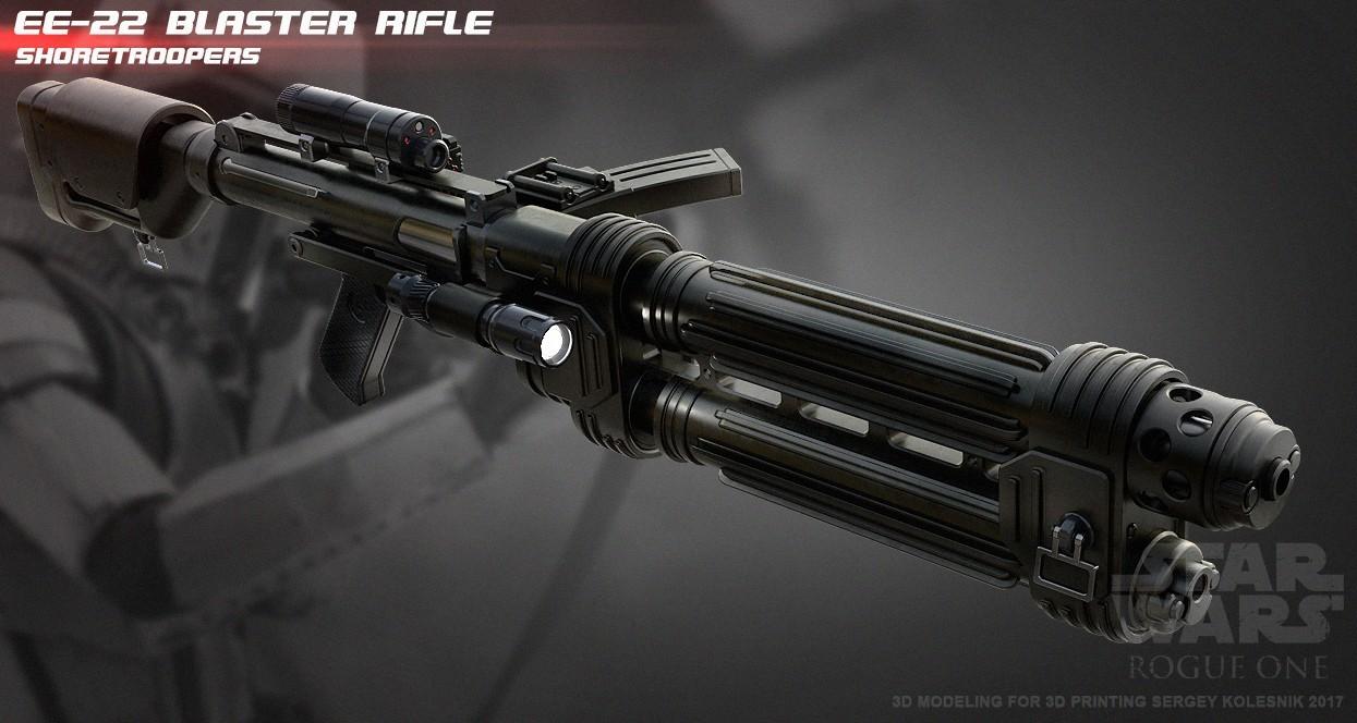 r4.jpg Download STL file E-22 Blaster Rifle  • 3D print design, 3dpicasso