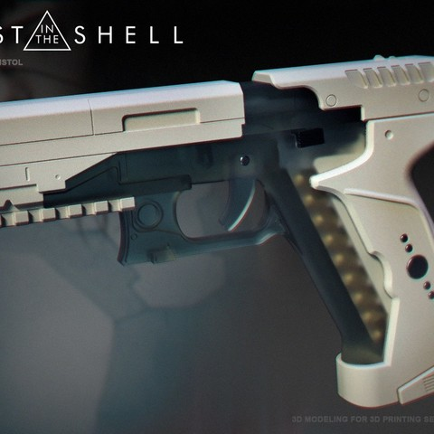 Download STL file Ghost in the shell - Major termoptic pistol 3D print model • Template to 3D print, 3dpicasso