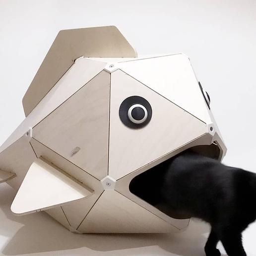 Download 3D printing designs Cat-eating fish (Cat kennel), ADL