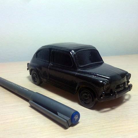 Fiat 600 Scale Model STL file, tzo