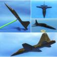 Download free 3D printer designs Easy to print T-38 Talon aircraft scale model (esc: 1/64), tzo