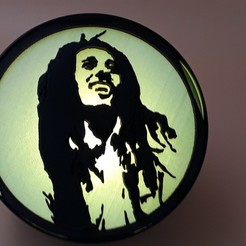 "Télécharger fichier impression 3D Spot ""Bob Marley"", bobydelyon"