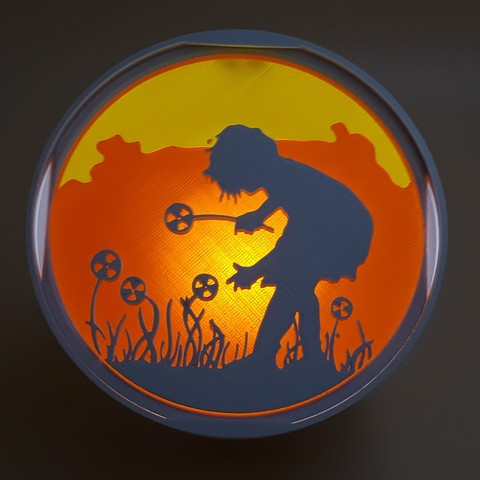 """Free 3d model symbolo 120 lamp with a lens """"the little girl with flowers"""", bobydelyon"""