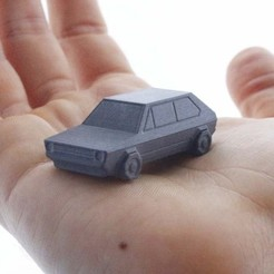 Free 3D print files Volkswagen Golf GTI - Low Poly Miniature, flowalistik
