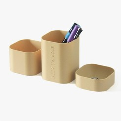Free stl Desk Organizer - Keep It Simple, flowalistik