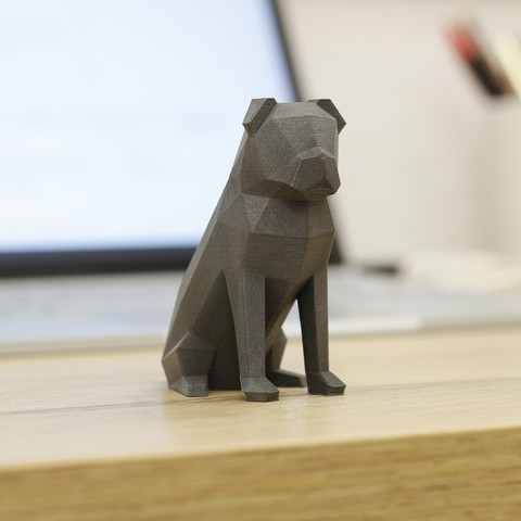 Free Low-Poly Pug STL file, flowalistik