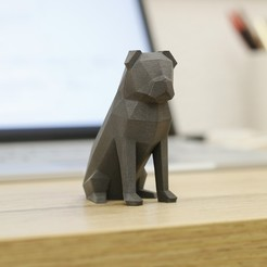 Free 3D printer designs Low-Poly Pug, flowalistik