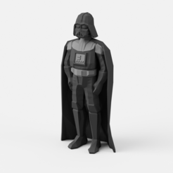 Descargar modelo 3D gratis Low-Poly Darth Vader - Multi y Extrusión doble versión, flowalistik