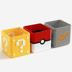 Download free 3D printer designs Video Game Planter Collection, flowalistik