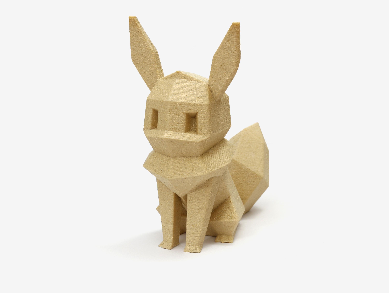 lowpoly_eevee_single.jpg Download free STL file Low-poly Eevee • 3D print design, flowalistik