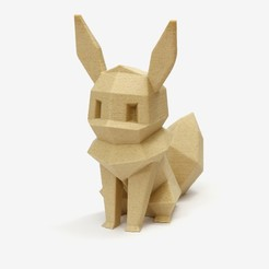 lowpoly_eevee_single.jpg Download free STL file Low-poly Eevee • 3D print design, flowalistik