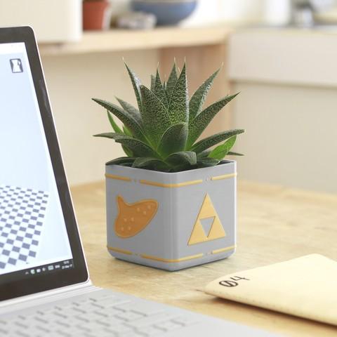 Descargar archivos STL gratis Zelda Planter - Single / Dual Extrusion Minimal Planter, flowalistik