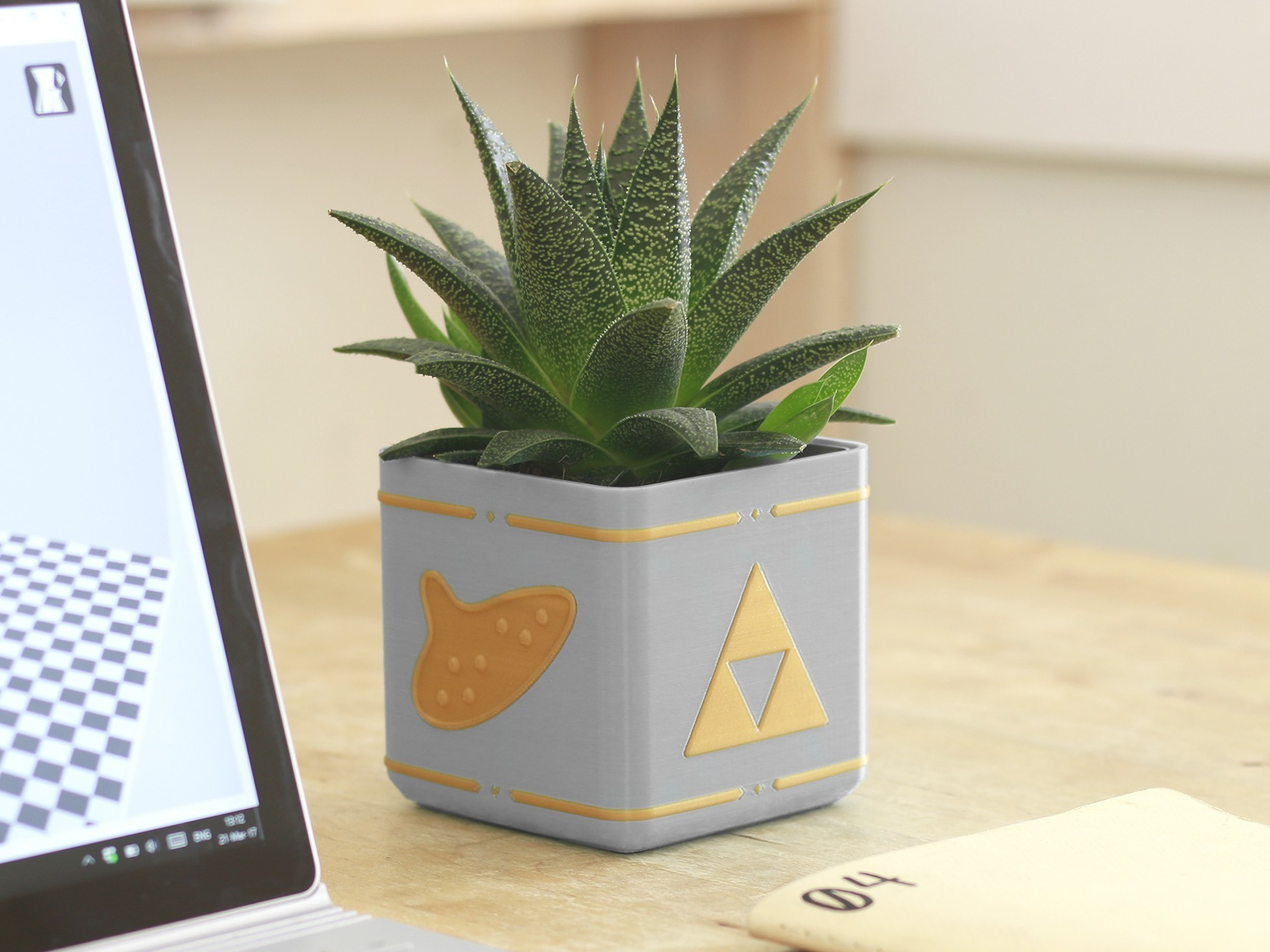 zelda_planter_thingiverse.jpg Download free STL file Video Game Planter Collection • Object to 3D print, flowalistik