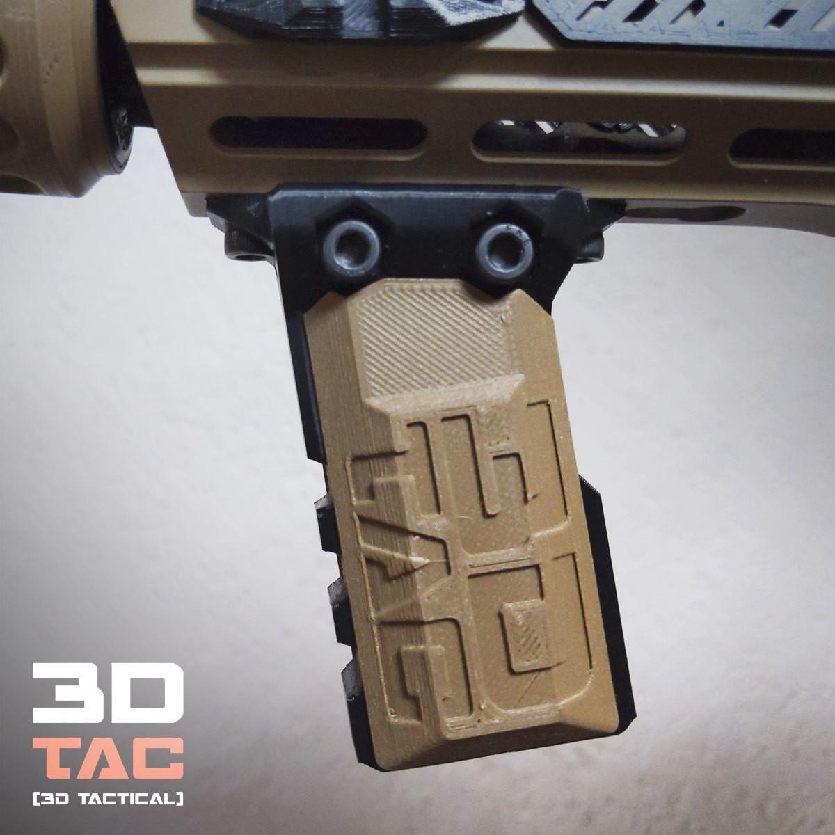 3DTAC_Covers_VertX_1.jpg Download STL file 3DTAC / VERTX 80° Tactical Grip • 3D printing template, 3DMX