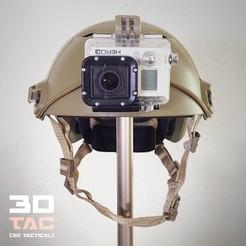 Télécharger fichier 3D 3DTAC / GoPro NVG Airsoft Helmet Mount, SR-3D