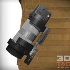 34158602_10155672206621279_5717789806822424576_n.jpg Download STL file 3DTAC / Cyclone Grenade MOLLE Clip • 3D printing model, 3DMX