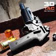 Download STL file 3DTAC / Airsoft M203 Grip (for railed version only) • 3D printer template, 3DMX