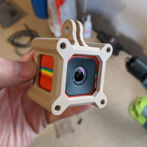 Download STL file Polaroid Cube to GoPro Adapter • 3D printer object, 3DMX