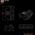 3DTAC_45Rail_Vectors_Eng.png Download STL file 3DTAC - 45° Rail • 3D printable model, 3DMX