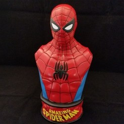 Free 3D printer files Vintage Spider-Man Bust, SergeRomero