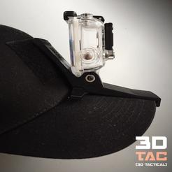Download 3D printing files 3DTAC / GoPro Cap Mount, SR-3D