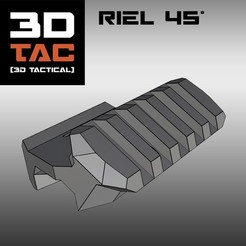 3DTAC - 45° Rail STL file, 3DNG_MX