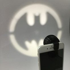 Download free 3D printing designs Clip-On Pocket Bat-Signal!, SergeRomero