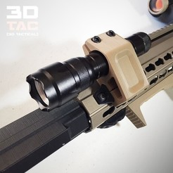 3D print model 3DTAC - Airsoft Tactical Torch / Lamp Mount, SergeRomero