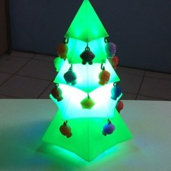 Download free STL Happy 3D Christmas, SergeRomero