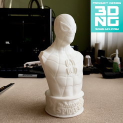 Free 3D printer file Vintage Spider-Man Bust, 3DNG_MX