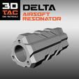 STL files 3DTAC / DELTA Airsoft Resonator & Sound Enhancer, SergeRomero