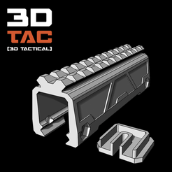 3d print files 3DTAC / Battery Rail Riser , SergeRomero