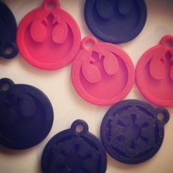 Download free 3D printing designs STAR WARS - Rebel and Imperial keychains, SergeRomero
