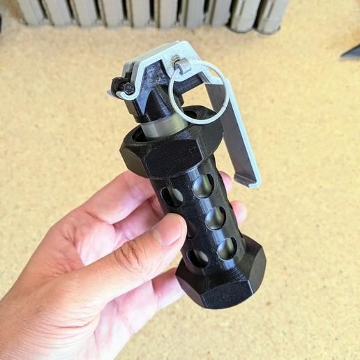 Télécharger STL M84 Kit de maquette 3D Flashbang M84, SergeRomero