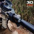 3D print model 3DTAC - Airsoft Tactical Torch / Lamp Mount, SergeRomero