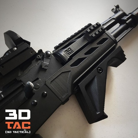 3DTAC_Covers.jpg Download STL file 3DTAC / AK Complete Modular Package (Airsoft only) • 3D printable object, 3DMX