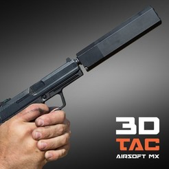 Download 3D printing models 3DTAC / OSPREY - Airsoft Supressor, 4 models included!, SergeRomero